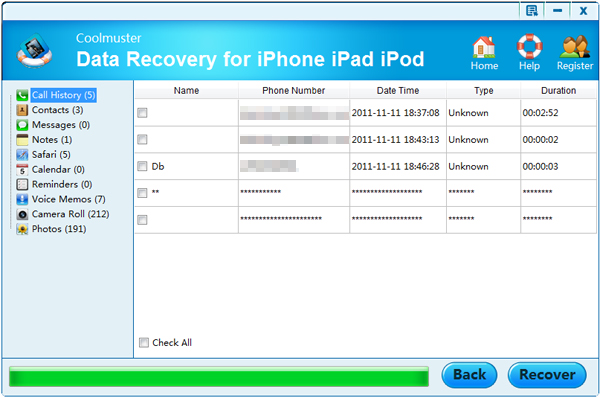 restore contacts on iphone