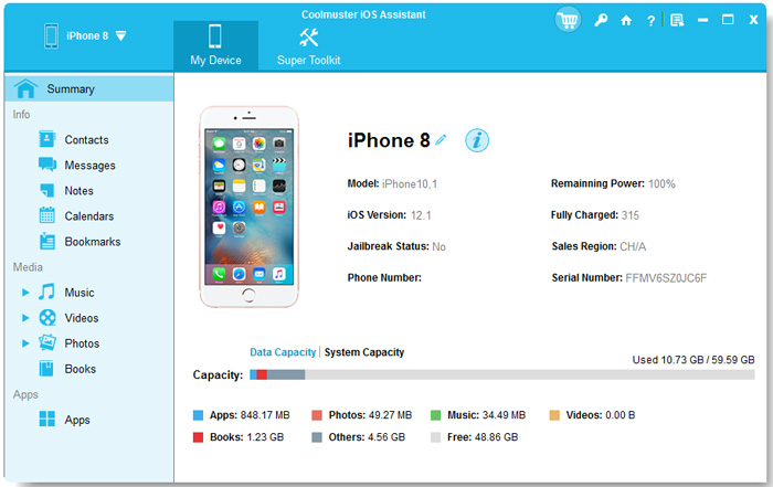 launch iphone file transfer