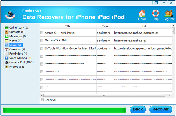preview safari bookmarks before recovery
