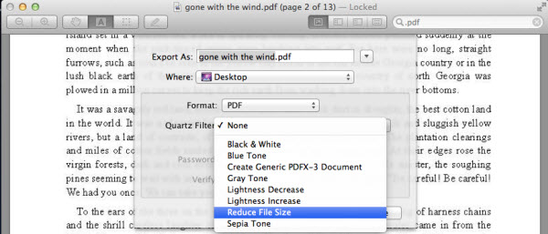 how do i compress a pdf file on a mac