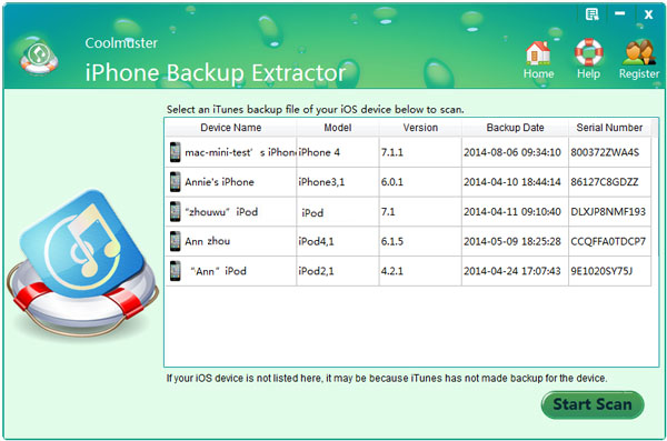 Extract iPhone files from iTunes backup on windows