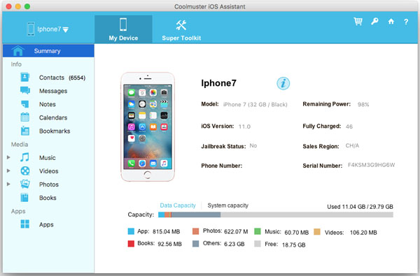 iphone to mac transfer interface
