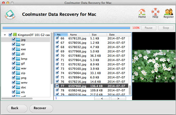 restore data on mac