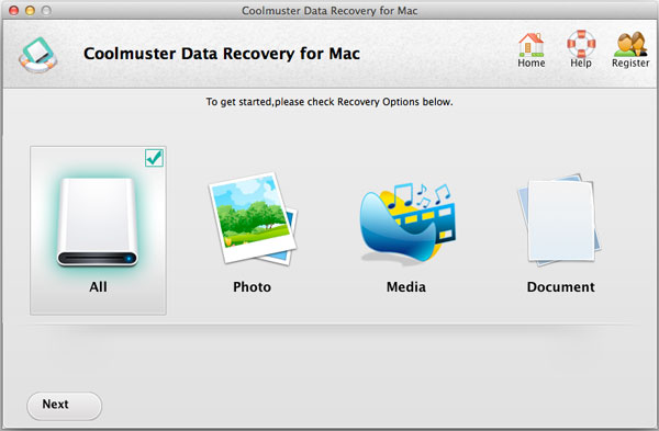 select a recovery option