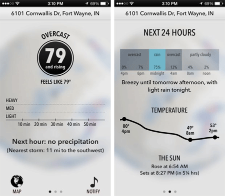 iphone weather apps