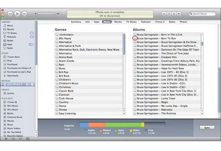 transfer mp3 to iphone with itunes