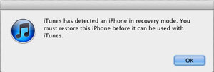 iphone cant restore to get out of recovery mode