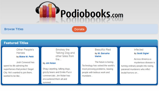 audiobook sites for iphone ipod