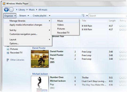 share music between windows media player and itunes