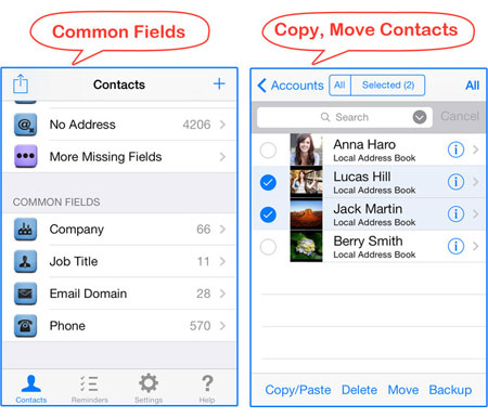 contacts apps for iphone