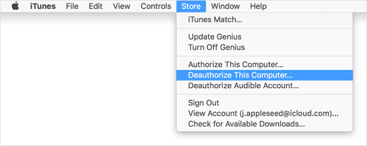 authorize deauthorize computer in itunes