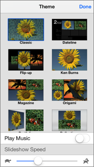 make slide shows with iphone photos