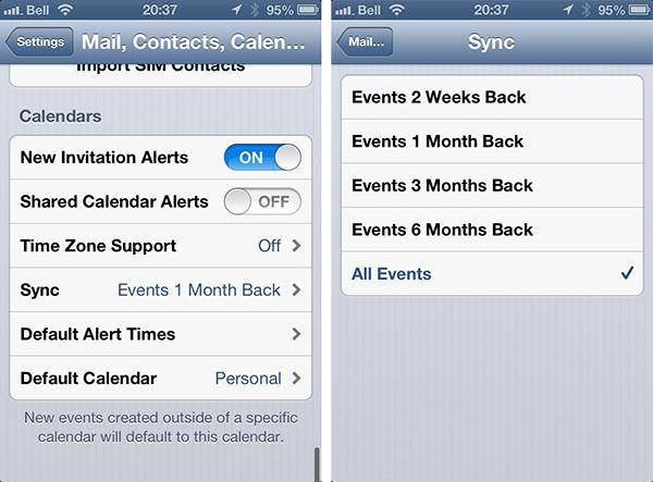 common iphone calendar problems