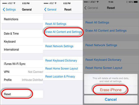 reset iphone to download photos from icloud to iphone