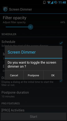 android screen dimmer