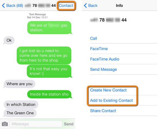 add contacts to iphone