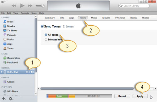 how to add ringtones to iphone from computer via itunes