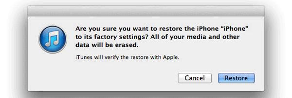 restore jailbroken iphone