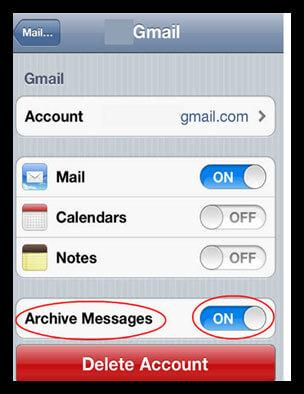 undelete email on iphone