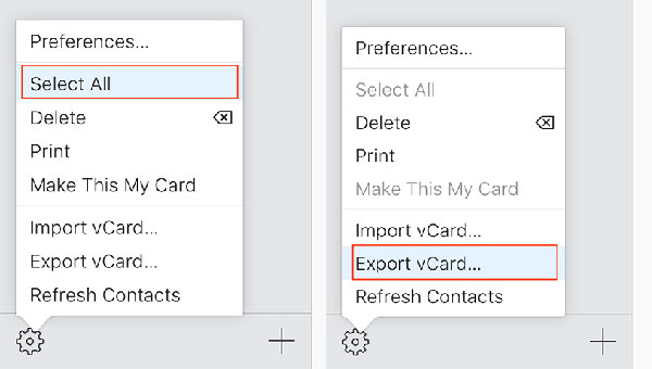 export contacts from iphone using icloud