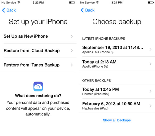 how to download photos from icloud to iphone via icloud backup