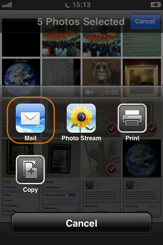 how to transfer photos from iphone to ipad via email