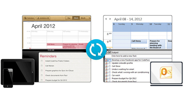 sync icloud calendar with outlook