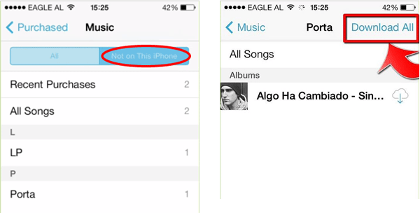 download music from icloud