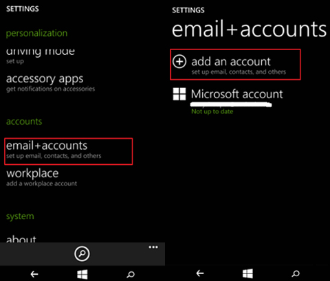 Backup Windows Phone Contacts To Onedrive