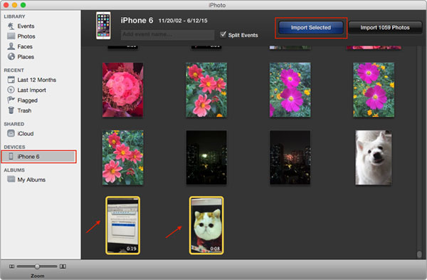 how to get photos off iphone to mac using photos app