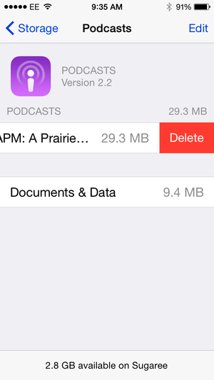 delete podcasts from ipod