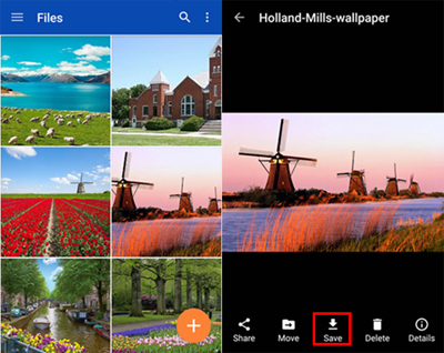 launch onedrive for android app