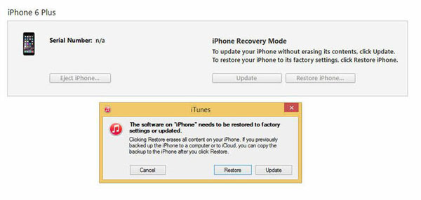 fix bricked iphone via itunes