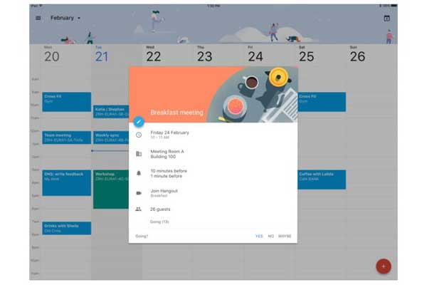 transfer calendars from ipad