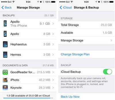 restore photos from icloud backup directly on idevice