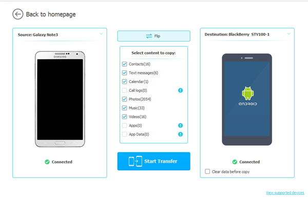 sync android apps to blackberry