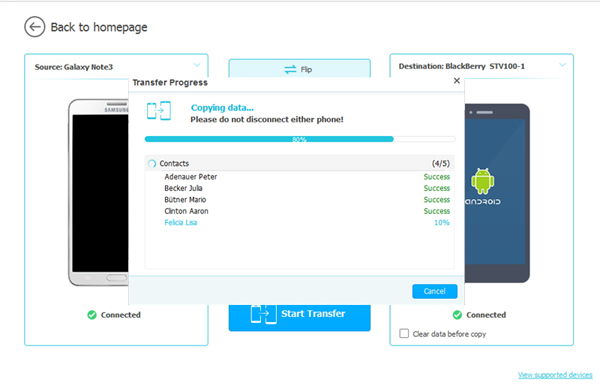 transfer android apps to blackberry