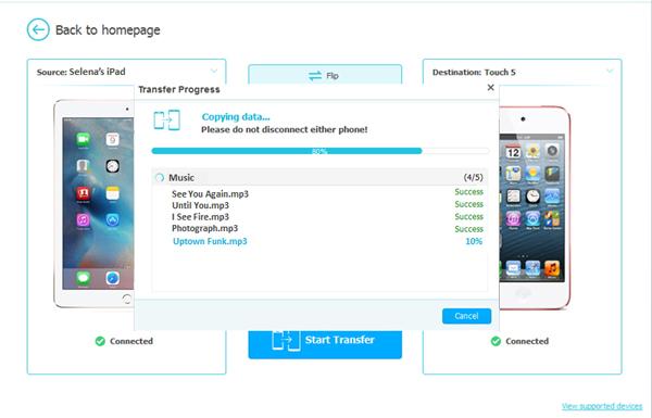 copy ipad songs to ipod