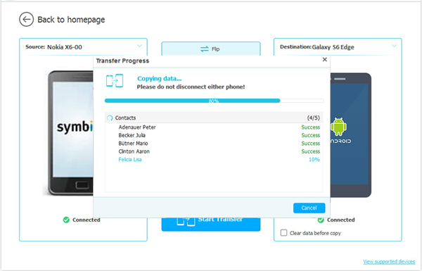 transfer calendar from nokia to samsung