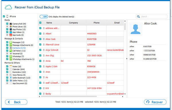 download and export icloud contacts