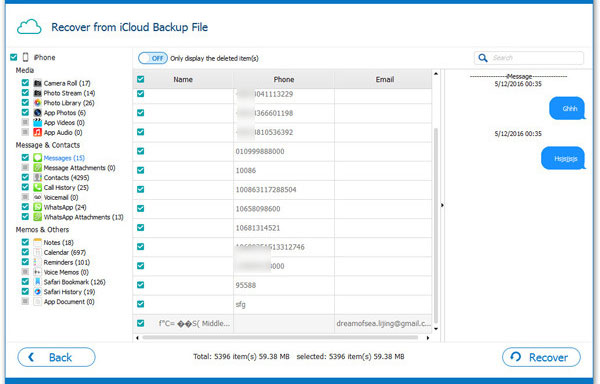 recover formatted data from iphone via icloud backup