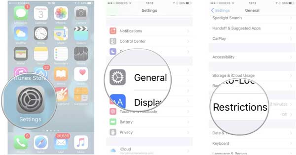 remove iphone restrictions