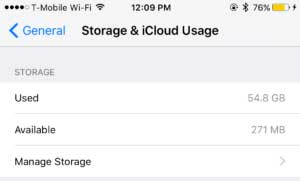 check storage to fix icloud back up now greyed out