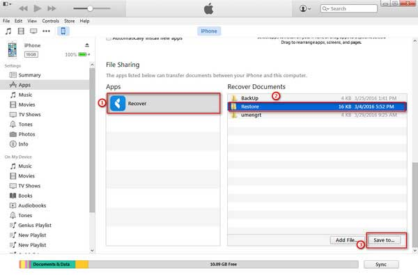 share files with itunes file sharing