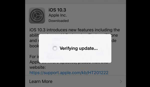 fix iphone stuck on verifying update