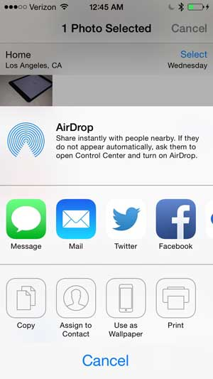 connect iphone to mac with airdrop