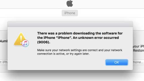 fix itunes or iphone error 9006
