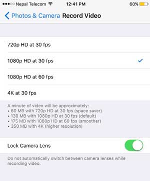lock camera lens on iphone 8