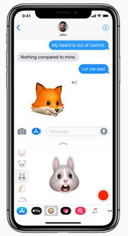 share animoji with iphone x