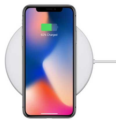 wireless charging of iphone x